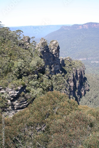 Photo sur Aluminium Ile three sisters lookout, blue mountains, new south wales, australia