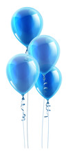 A Set Of Blue Party Balloons F...
