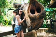 Smiling Girl With Elephant/ Gi...