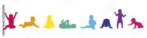 Photographie Frise-Bébés-couleurs