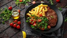 Grilled Sirloin Steak With Pot...