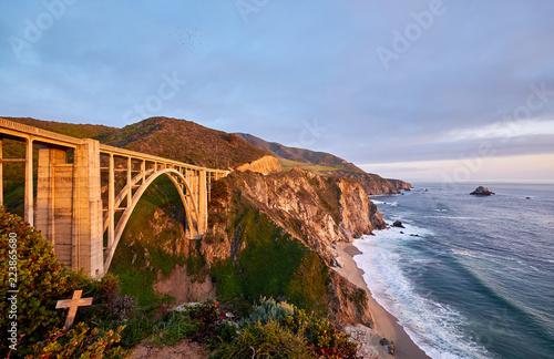 Keuken foto achterwand Verenigde Staten Bixby Creek Bridge on Highway 1, California
