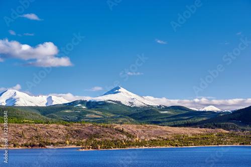 Keuken foto achterwand Verenigde Staten Dillon Reservoir and Swan Mountain. Rocky Mountains, Colorado