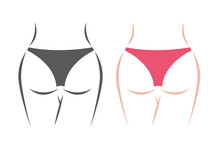 Panties And Butt Icon Vector