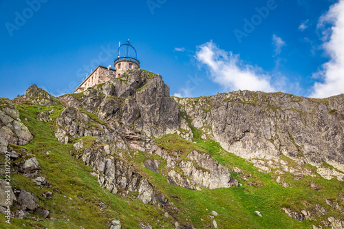 View to the top of Kasprowy Wierch in Tatra mountains