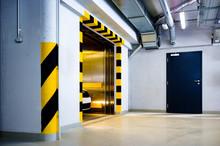 Open Car Elevator Door