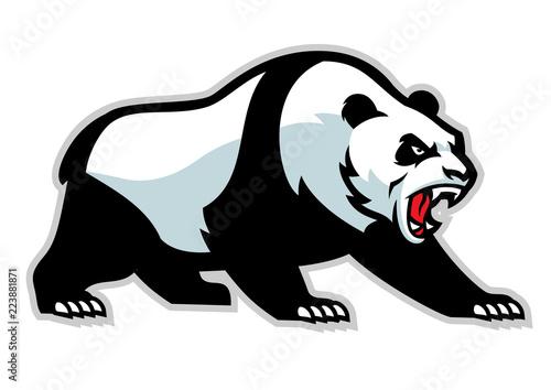 Fototapeta premium maskotka zły panda