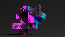 Abstract 3d Rendering Of A Modern Geometric Background. Minimalistic Design For Poster, Cover, Branding, Banner, Placard.