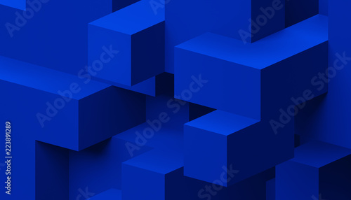 Abstract 3d rendering of a modern geometric background Wallpaper Mural