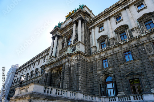 Amazing exterior of Hofburg palace of Habsburg dynasty in Wien, Austria. Concept of euopean landmarks and architecture in Vienna.