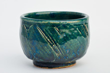 Green And Blue Pottery Cup