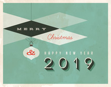 Vintage Style 2019 Greetings C...