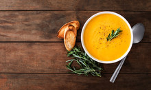 Pumpkin And Carrot  Cream Soup...