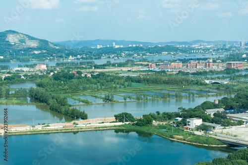 view of Xiangjiang river and Changsha city