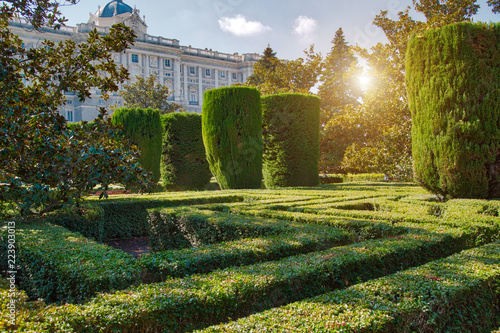 Madrid Campo Del Moro The Moorish Garden Buy This Stock Photo