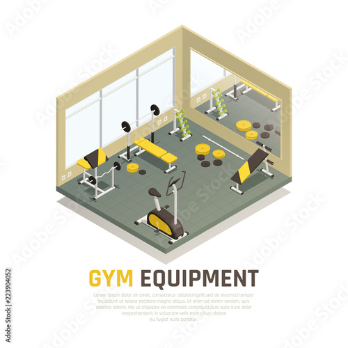 Foto  Exercise Equipment Isometric Composition