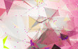 Abstract background polygonal. Bright pink digital illustration with triangles.