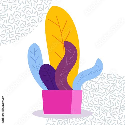 egzotyczna-tropikalna-salowa-roslina-w-flowerpot-na-bialym-tle-obraz-w-jasnym-kolorowym-modnym-stylu-memphis