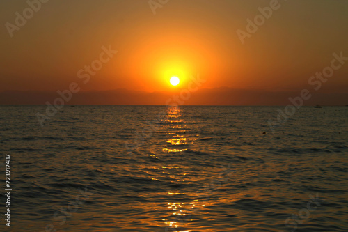 Sunset.Mediterranean Sea.Side .Turkey.