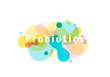 Probiotics bacteria logo.