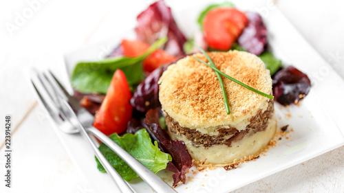 hachis parmentier (assiette blanche) 5