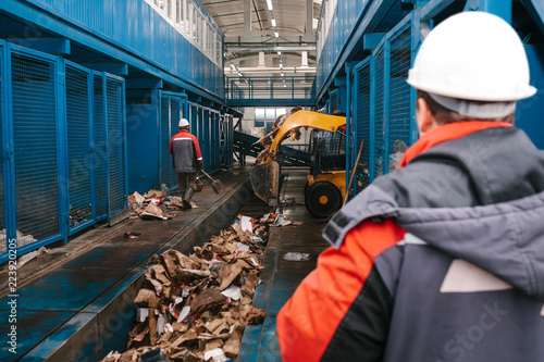 Photo  Waste processing plant