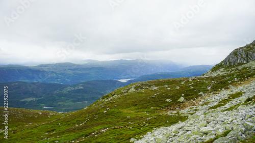 Spoed Foto op Canvas Wit Landscape in the mountains .