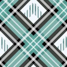 Seamless Tartan Plaid Pattern Traditional Checkered Fabric Texture