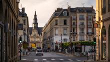 Evening Reims City Hall In Sun...