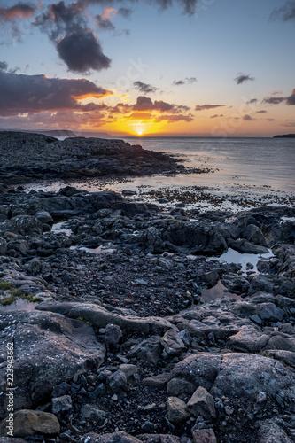 Foto  rocks sea in Faeroe islands