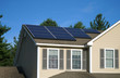 canvas print picture - solar panel installed on the house roof