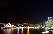Night View Over The Sydney Opera House