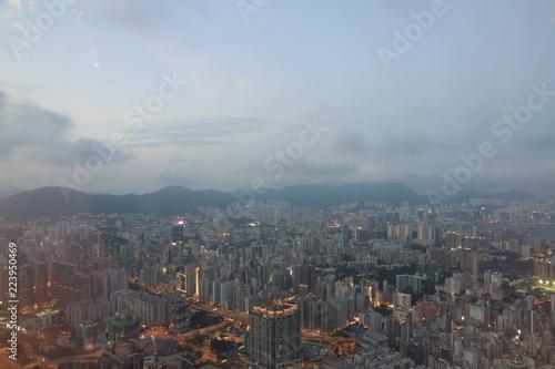 Papiers peints Barcelona Bird's Eye View of Kowloon, Hong Kong