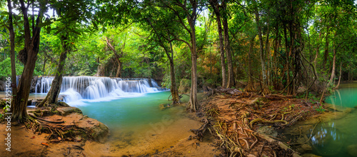 Canvas Prints Forest river Waterfall in Thailand, called Huay or Huai mae khamin in Kanchanaburi Provience