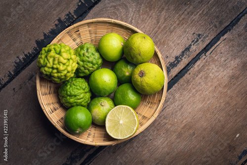 Lemon lime and bergamot on the basket