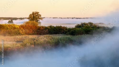 Poranne mgły w Dolinie Górnej Narwi