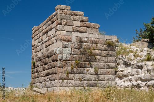 Foto op Aluminium Oude gebouw Ruins of the ancient town Halicarnassus (now Bodrum), Turkey