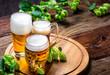 canvas print picture - Bier - Alkohol - Spirituosen - Getränk - Hopfen - Gerste - Stutzen- Seidel - Kanne - Glas