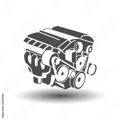 Car engine glyph icon Fototapeta