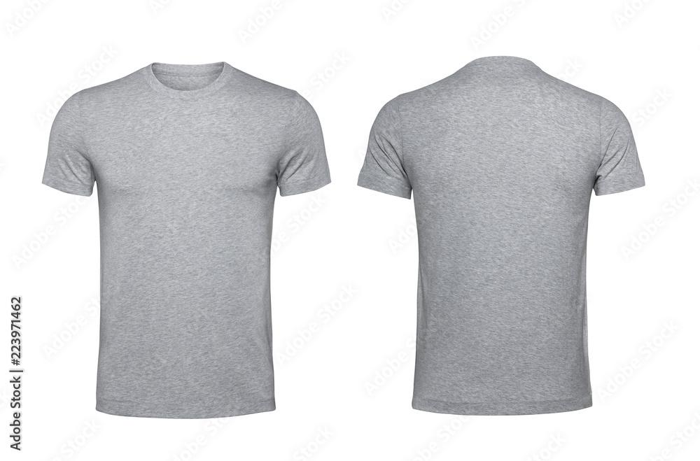 Fototapety, obrazy: Blank gray t-shirt isolated on white background