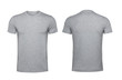 canvas print picture - Blank gray t-shirt isolated on white background