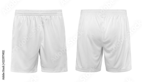 Short white pants isolated on white background