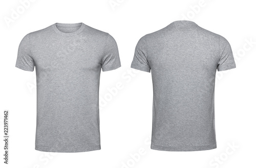 Fotomural  Blank gray t-shirt isolated on white background