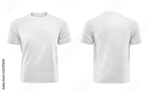 Obraz White T-shirts front and back used as design template. - fototapety do salonu