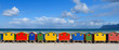 canvas print picture - Muizenberg South Africa Rainbow