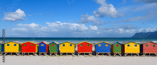Valokuvatapetti Muizenberg South Africa Rainbow