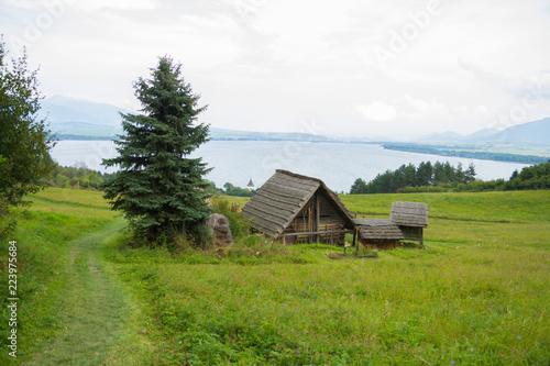 Fotografie, Obraz  traditional wooden huts