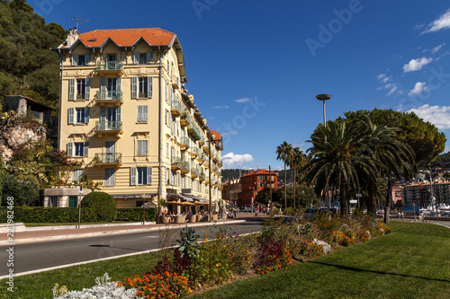 In de dag Nice On the street of Nice in a sunny summer day. French Rivera, Cote d'Azur, France. Holidays in France.