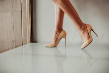 Close Up Fashion Feet Wearing ...