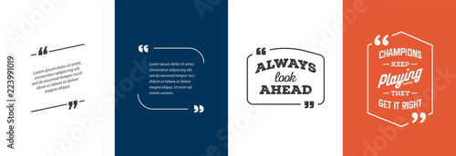 Valokuva  Remark Quote Template Bubble. Template Vector Set.